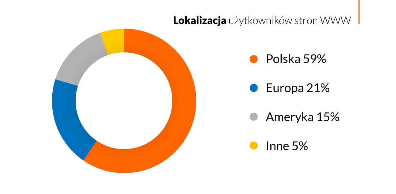 41% ruchu wpolskim Internecie pochodzi spoza Polski