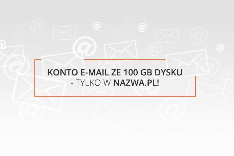 100G na koncie e mail