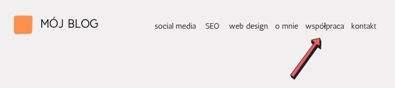 zakładka współpraca nablogu