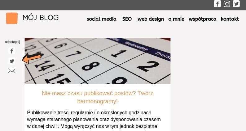 social media na blogu
