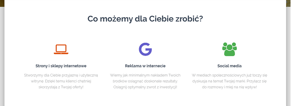 Jak zaprojektować stronę główną? Sprawdź nablogu nazwa.pl jak przygotować skuteczną listę korzyści dla klienta nastronie głównej strony www.
