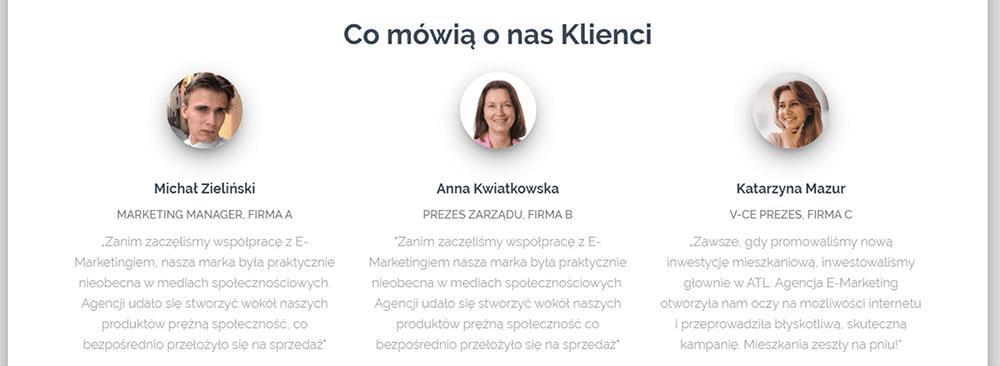 """Referencje klientów wzbudzają zaufanie użytkowników odwiedzających stronę www. Poznaj zasady tworzenia zakładki """"Co mówią o nas Klienci"""" na blogu nazwa.pl."""