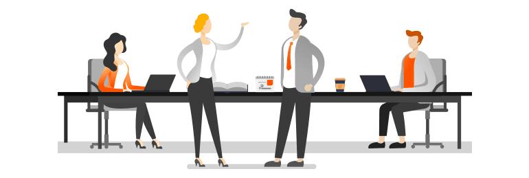 Storytelling w komunikacji online. W opowieści warto wykorzystać także postacie pracowników oraz klientów. Więcej na nazwa.pl.