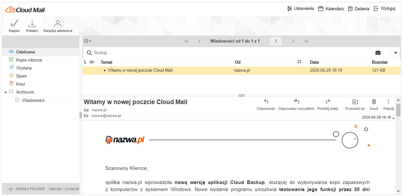 Nowa poczta elektroniczna od nazwa.pl