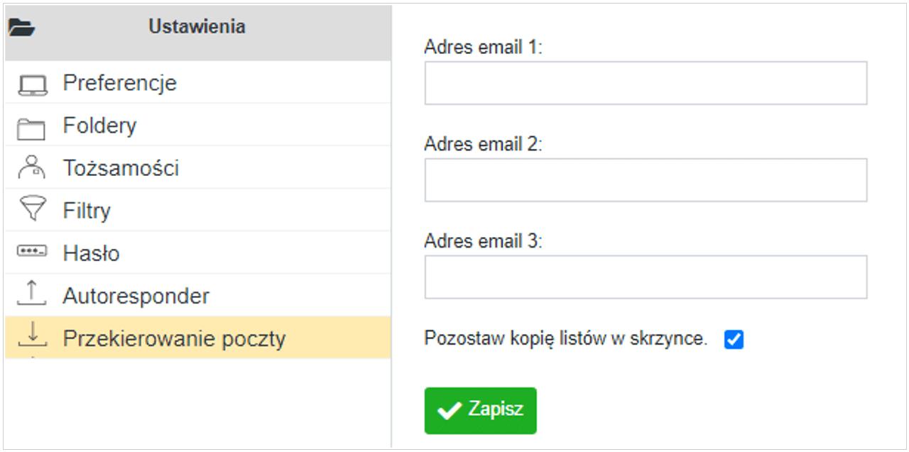 Przekierowanie poczty Cloud Mail  nazwa.pl