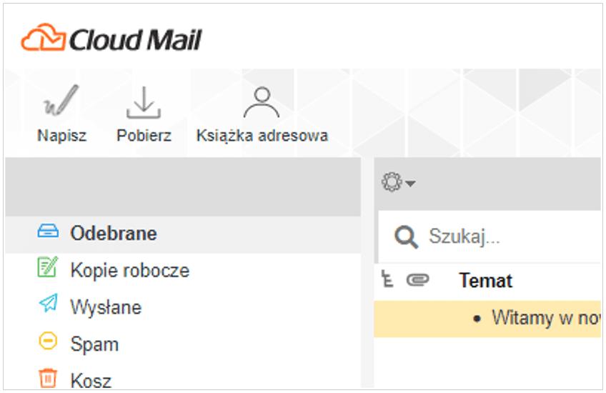 Uruchomienie Cloud Mail od nazwa.pl