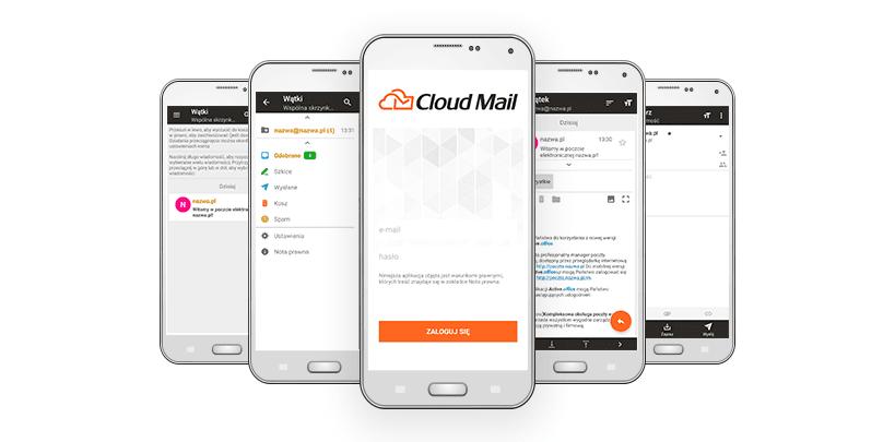 CloudMail od nazwa.pl - aplikacja w wersji mobilnej na smartfony
