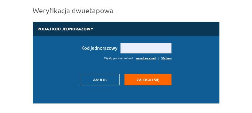 Autoryzacja dwuetapowa 2FA przy logowaniu doPanelu Klienta | nazwa.pl