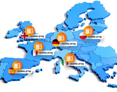 Lokalizowane geograficznie adresy IP i Reverse DNS dla serwerow VPS w nazwa.pl