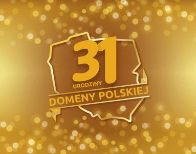 Domena .pl ma już 31 lat! | nazwa.pl