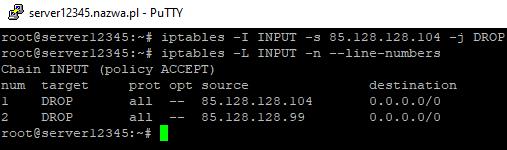 iptables vps linux blokuj