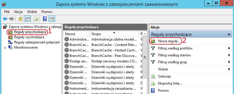 vps windows firewall dodaj regule