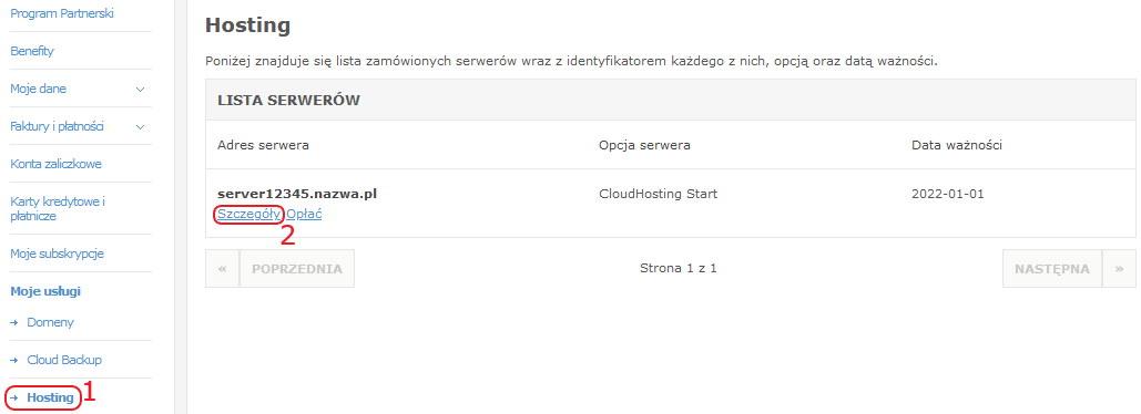 pk cloudhosting szczegoly